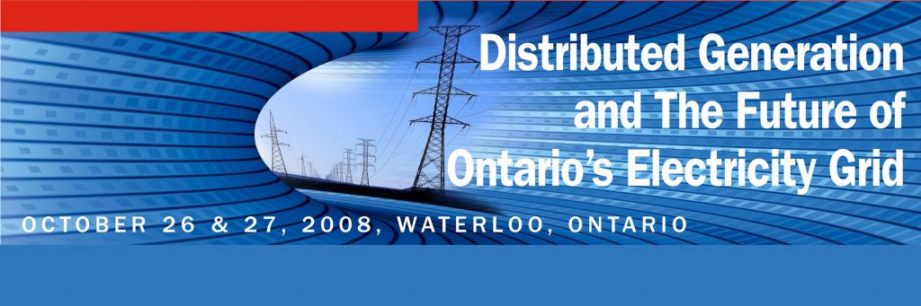 Distributed Generation and the Furture of Ontario's Electricity Grid