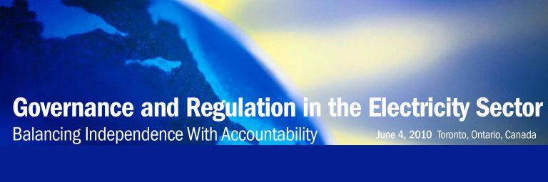 Governance and Regulation in the Electricity Sector- Balancing Independence with Accountability