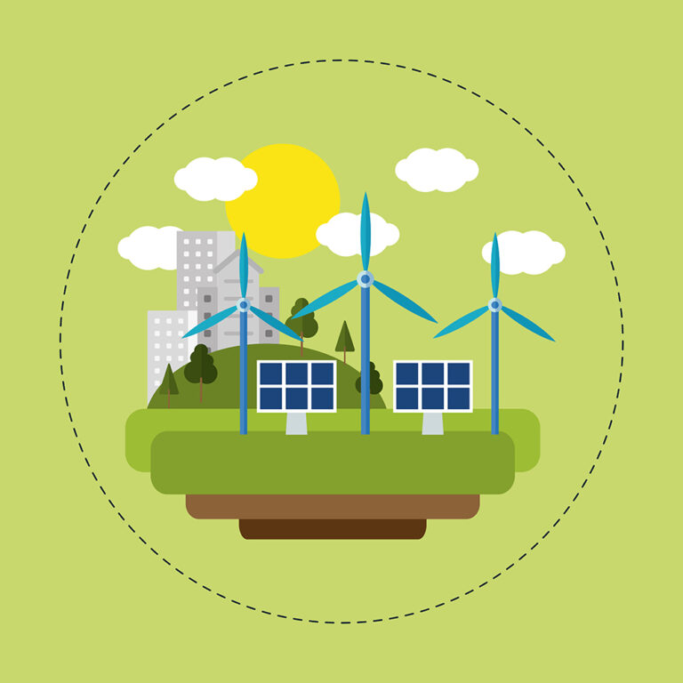 Community with clean renewable enercy