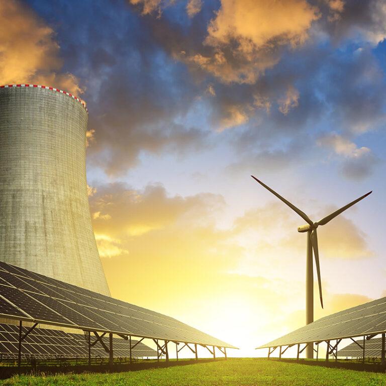 Wind power, hydro power