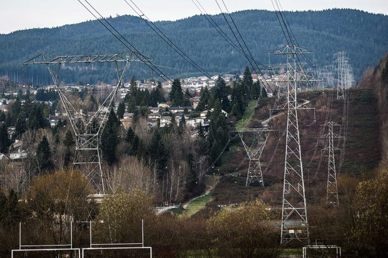 Transmission towers are seen in Coquitlam, B.C., in a file photo from Nov. 24, 2013. Carmine Marinelli/Postmedia News