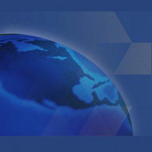 Globe showing Canada