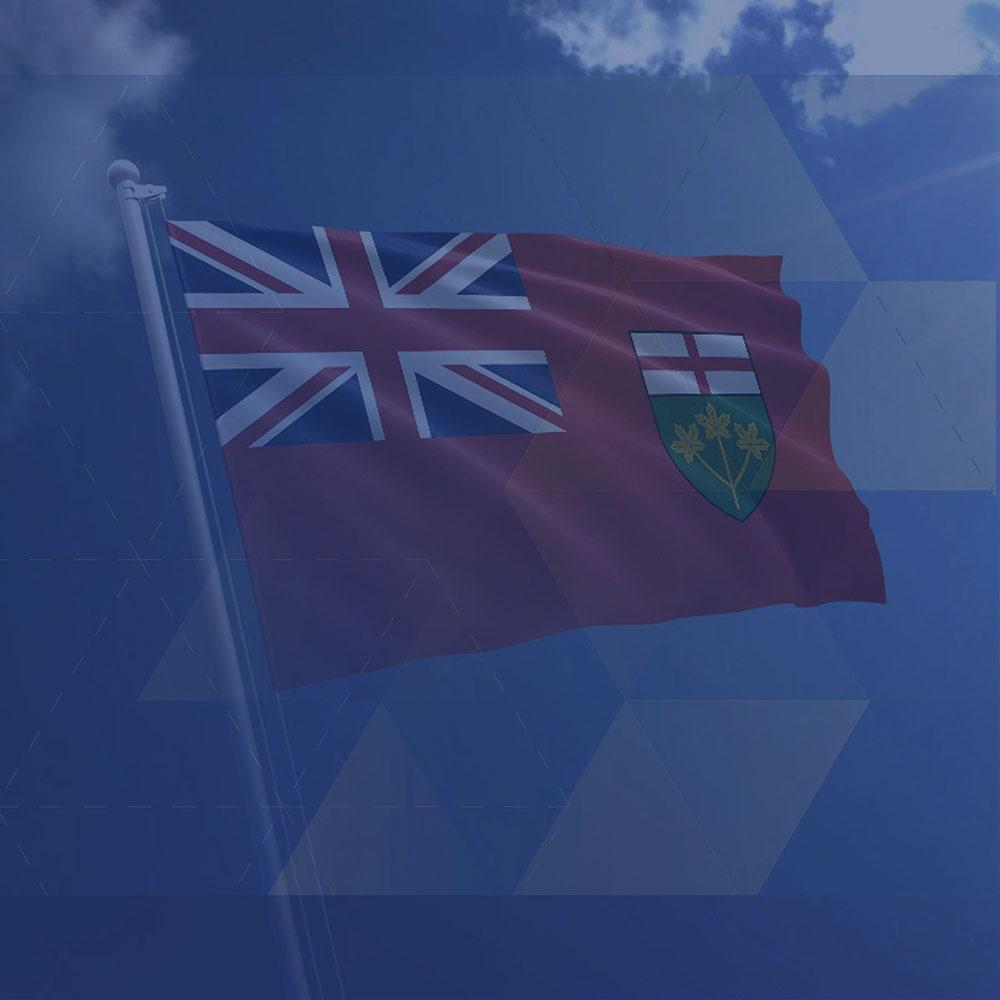 CCRE- Ontario flag